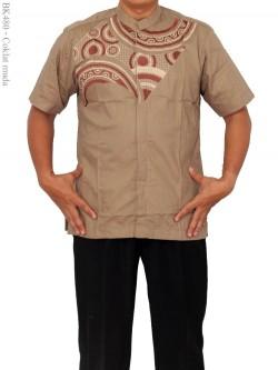 BK480 Baju Koko albatar Bordir Lengan Pendek