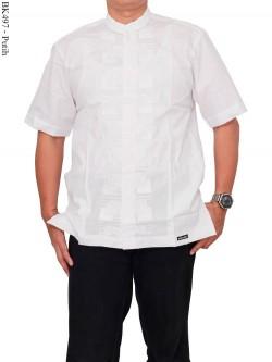 BK497 Baju Koko Putih Bordir Albatar