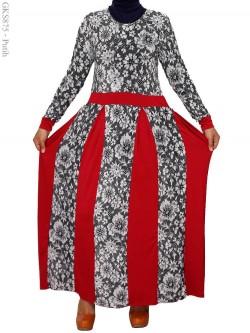 GKS875 Gamis Umbrella Jersey Batik