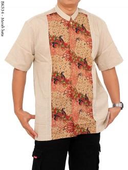 BK534 Baju Koko Albatar Lengan Pendek Batik