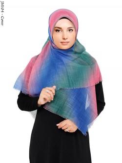 JM104 jilbab segi 4 Rawis Rainbow
