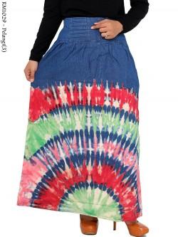 RM1029 Rok Panjang Jeans Tie Dye