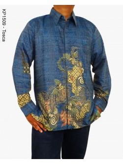 KP1509 Batik Pria Lengan Panjang Doby Tenun Eksklusif