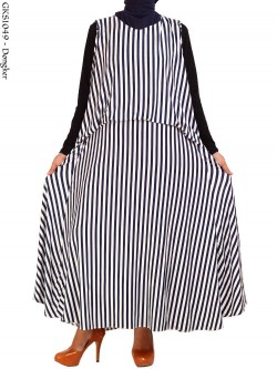 GKS1049 Gamis Maxi Jersey Salur Gisel