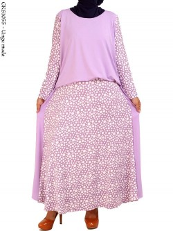 GKS1055 Gamis Maxi Jersey Gisel Polka