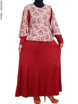 GKS1061 Gamis Jersey Nagita Batik