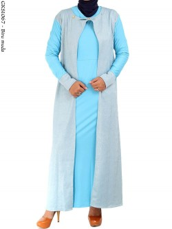 GKS1067 Gamis Long Cardi 2in1