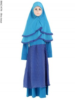 BMC1476 (4-6) Gamis Anak Hijab Ceruti