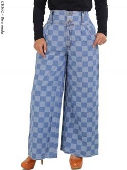 CK162 Celana Kulot Jeans Kotak