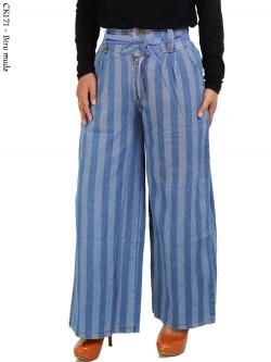 CK171 Celana Kulot Jeans Salur