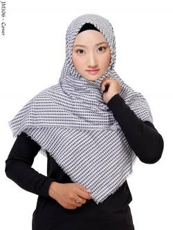 JM106 Jilbab Segi Empat Monochrome