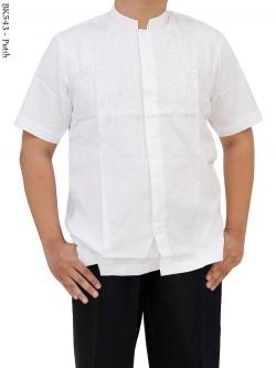 BK543 Baju Koko Putih Bordir Albatar