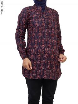 AB33 Atasan Blus Katun Rayon Batik