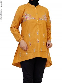 RZ460 Blouse Pinguin Riz Katun Bordir