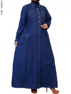 GSJ444 Gamis Maxi Jeans Polos