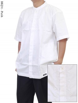 BKJ31 Baju Koko Lengan Pendek Albatar Jumbo Bordir