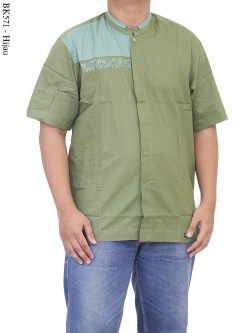BK571 Baju Koko Albatar Bordir Kombinasi