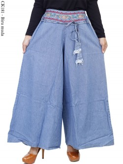 CK181 Celana Kulot Jeans Bordir