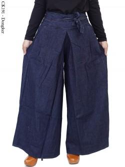 CK191 Celana Kulot Jeans Polos