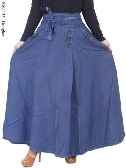 RM1122 Rok Jeans Umbrella Hias Kancing
