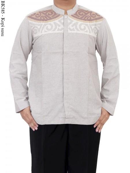 BK585 Baju Koko Albatar Bordir Lengan Panjang