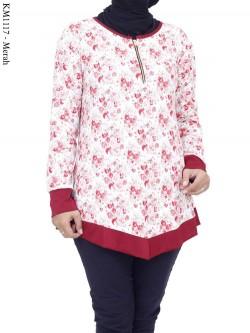 KM1117 Kaos Jersey Motif Bunga