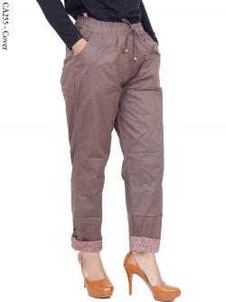 CA255 Celana Harem Jumbo Polos List Motif