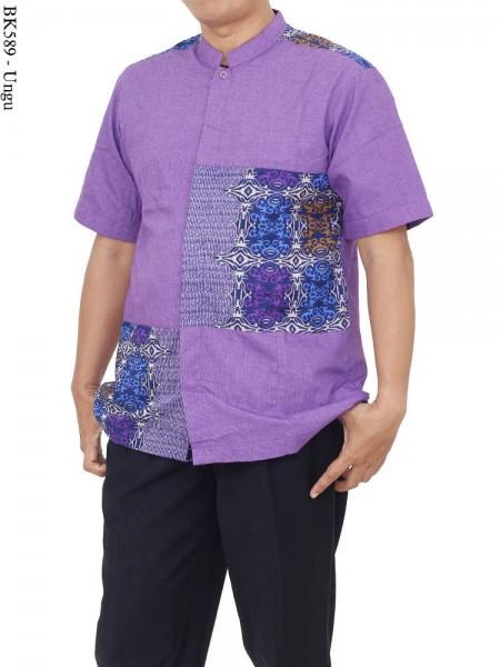 BK589 Baju Koko Batik Albatar Katun CRV