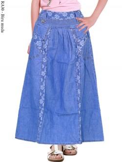 RA30 Rok Jeans Anak Bunga