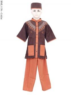 BML1156 (7-12) Koko Anak Bordir Lengan Pendek