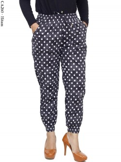 CA260 Jogger Pants Katun Stretch Polka