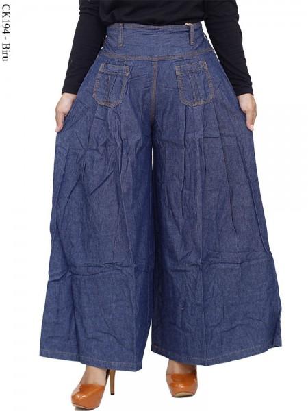 CK194 Celana Kulot Jeans Polos