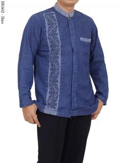 BK602 Baju Koko Eksklusif Jeans Bordir Albatar