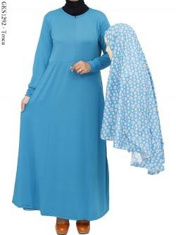 GKS1292 Gamis Jersey Hijab Katun Jepang