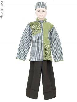 BML1170 (1-6) Baju Koko Anak Lengan Panjang