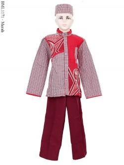 BML1171 (7-12) Baju Koko Anak Lengan Panjang