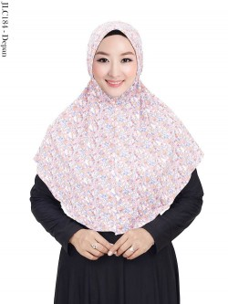 JLC184 Jilbab Tali Serut Jersey Motif