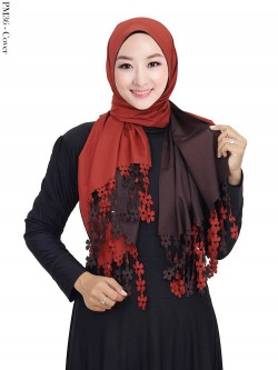PM36 Pashmina Ranting Press Bolak Balik