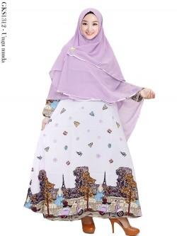 GKS1312 Gamis Twisscone Hijab Ceruty