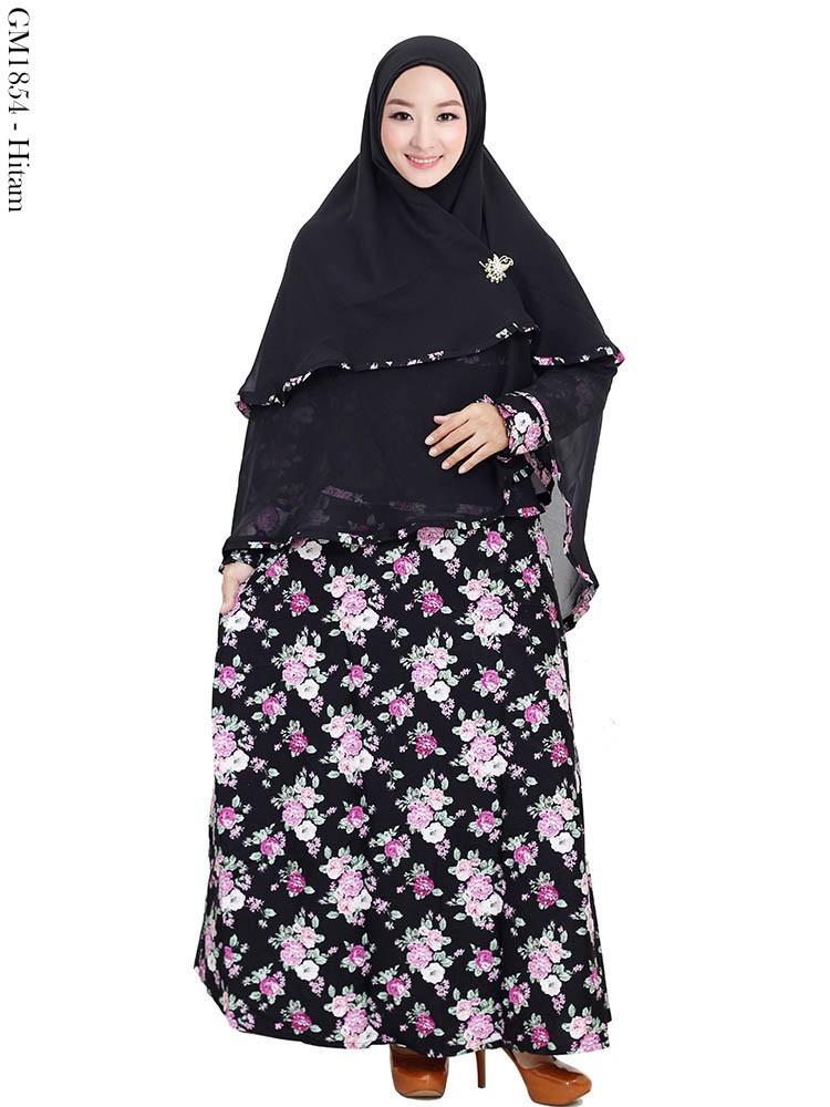 Grosir Gamis Syar 39 I Katun Jilbab Ceruty Motif Cantik