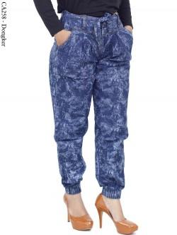 CA258 Jogger Pants Jeans Motif Abstrak