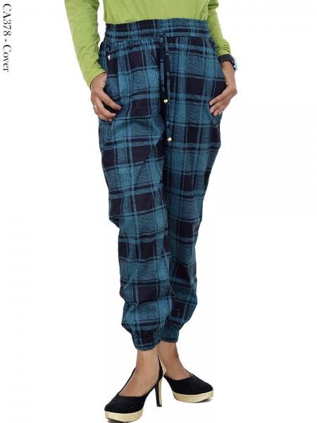 CA378 Jogger Pants Katun Stretch Bunga