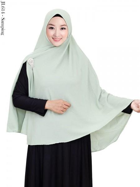 JL614 Jilbab Syar'i Pet Bablle pop Crepe