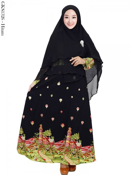 GKS1326 Gamis Twisscone Hijab Ceruty