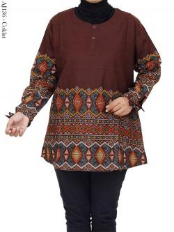 AJ136 Blus Katun Jumbo Batik Songket