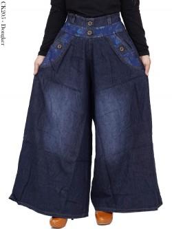 CK205 Celana Kulot Jumbo Jeans Wash