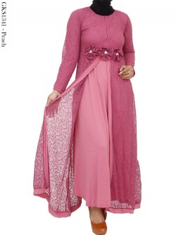GKS1341 Gamis Brukat Double Jersey