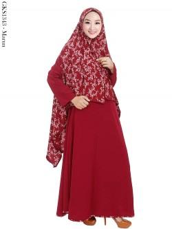 GKS1343 Gamis Syar'i Crepe Hijab Cardi
