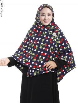 JL637 Jilbab Syiria Bubble Pop Motif