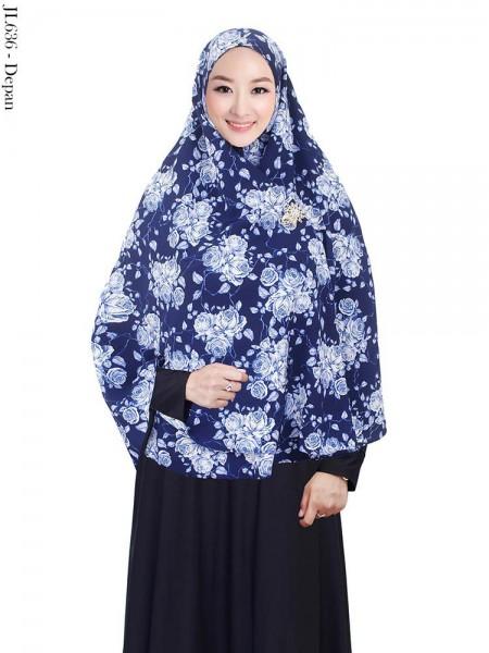 JL636 Jilbab Syiria Bubble Pop Motif